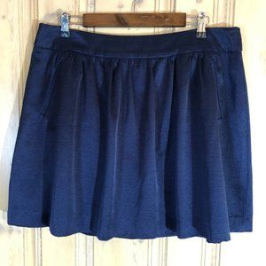 CROWN & IVY Novel Navy Bright Now A-Line Skirt 18